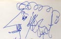 Kurt-Vonnegut-autograph-and-self-portrait